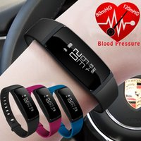 Wholesale Cell Phone Wrist Bands - Wholesale- V07 Blood Pressure Watch Heart Rate Monitor Smart Band Activity Cardiaco Fitness Tracker Pulsometer Bracelet Cell Phone ios IP67