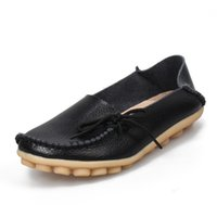 Wholesale Leather Driving Shoes Women - Hot Sale Moccasins Women Soft Leisure Flats Female Driving Shoes Loafers Mother Casual Shoe Fashion Woman Genuine Leather Shoes &010