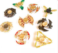 Wholesale Honor Glory - 2017 Game King Glory Hand Spinner Honor Hurricane Shape Alloy Hand Spinner Tri-Spinner Fidget Toy EDC Decompression Anxiety Gyro