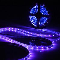 tiras de luz led prateadas à prova d'água venda por atacado-Atacado-excelente qualidade 0.5 / 1/2/3/4 / 5M 3528 SMD 60LED / M UV Ultravioleta Roxo LED Strip Lâmpada Luz Negra Não Impermeável IP20 DC12V