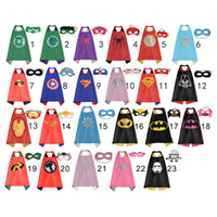 Wholesale 70cm cm Cape Masker Cosplay Clothes Kids Superhero Capes Boy Girl Children Batgirl Spiderman Masks Robin Vader Superhero Capes Mask