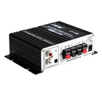 Wholesale Motorcycle Mp3 12v - Mini 700W Hi-Fi 12V Stereo Amplifier MP3 Motorcycle Car Amp for iPod CAU_104