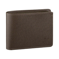 Wholesale Mens Designer Leather Handbags - Brand New! Brown Multiple Wallet Mens Damier Ebene Canvas Taiga Leather Wallets for men M60895 designer handbags card holder wallet Multiple