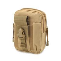 тактическая сумка для талии оптовых-Универсальная наружная тактическая кобура Военный MOLLE Hip Waist Belt Bag Кошелек Чехол Кошелек для телефона с молнией для iPhone / LG / HTC