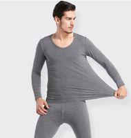 conjuntos de ropa interior térmica larga al por mayor-Conjunto de ropa interior para hombres Ropa de abrigo de invierno Conjuntos de pijamas Conjuntos térmicos Ropa de dormir larga