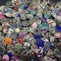 Wholesale Diy Acrylic Sets - Wholesale 50pcs Lot Mix Style 18MM Snap Cham Button Interchangeable Diy Ginger Snap Jewelry Fit Snap Charm Bracelets Pendant Ring Etc