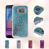 Wholesale Star S4 Phone - Newest Phone Case Liquid Dynamic Star Quicksand PC Shell For Samsung S4 S5 S6 S7 S6 Edge S7 Edge For I4 I4s I5 I5S I6 I6S I6s Plus I7