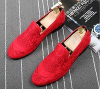 Wholesale Trendy Men Dress Shoes - Luxury design Men Trendy pointed Casual Shoes loafers Moccasins Male Wedding Dress Shoes zapatillas hombre Pageant Prom best gfit
