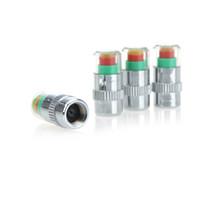 ventile kappen saab großhandel-Mini 2.4Bar Autoreifen-Reifendruckkappen TPMS-Werkzeuge Warnüberwachungsventilanzeige 3 Farbalarm-Diagnosewerkzeuge Zubehör