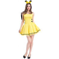 Wholesale Japanese Women Sexy Clothing - Pikachu Cosplay Dress Cartoon Image Fashion Stage Performance Costumes Party Special Clothes Sexy Striped Feet Game Uniform