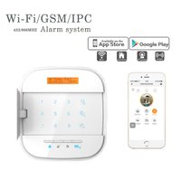 Smart Home Security System Système d'alarme antivol Wifi GSM sans fil avec détecteur PIR Capteur de porte SOS Panic Button IOS, l'application Android
