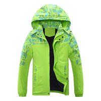 Wholesale Winter Ski Jackets Girls - Wholesale- autumn and winter girl boy coat thickening hood Ski Jacket big boy and gril windproof waterproof outdoor hiking jacket