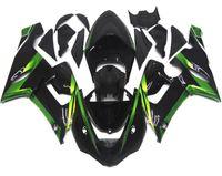 Wholesale Ninja Fairings Zx6r - New Motorcycle Fairings Kit For Kawasaki ZX6R ZX-6R 05 06 Ninja 636 2005 - 2006 ABS Covers Fairing Cowling glossy Black green