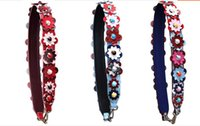 Wholesale BY DHL Fasion New Design brand cowhide leather bag strap flower decoration real leather long shoulder strap