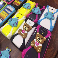 Wholesale Doll Silicone Case - 3D cartoon Universal Silicone Bumper Frame animal stitch Case Mickey Bear Monster Doll cases for iPhone 5s se 6s 7 plus s7 google pixel