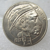 Wholesale Old Bronzes - BU(06)Hobo Nickel 1937-D 3-Eggled Buffalo Nickel Rare Creativeskull Walking Old Man Funny Copy Coin