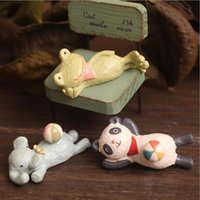 Zakka Home Decor Look At The Sky Frog Manufatti per arredamento in resina Fioriera Puntelli Garden Decor 3pcs / set 5cm