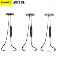 AWEI Earbuds Wireless Sports Bluetooth Headset fone de ouvido mãos-livres Super Bass Stereo com microfone para iphone samsung + B