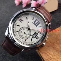 relógio de movimento relojes venda por atacado-2017 Homens Famosos relógio de Quartzo Relógios De Luxo de Couro Strap Top Marca de Negócios Casuais Vestido de Quartzo relógios de pulso de moda AAA relojes Melhor presente
