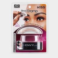 Wholesale Eye Shadow Palette Brown - Eye brow Stamp I ENVY BY KISS Makeup eyebrow powder palette Powder SealDelicated Eye Shadow Eyebrow with Brush eye brown stamper