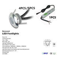 Wholesale spotlight floor light resale online - 4 set DC12V W LED Deck Light Recessed Stair Underground Lamp IP67 Waterproof LED Floor Light Wall spotlight with IP67 CE Driver