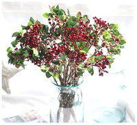Wholesale Artificial Berry Plants - 30pcs artificial plastic berry fruits plants bouquets fake flower fruits plants for wedding home bedding set table decoration Wholesale