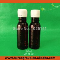 Wholesale Tamper Evident Plastic Containers - FreeShip 30PCS 60ml 60g 60cc Amber Empty Pharmaceutical Plastic Medicine Liquid Bottles Containers with tamper proof evident cap
