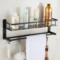 Wholesale Dish Rack Layers - Antique Space Aluminum 2 Layers Storage Basket Shower Room Bathroom Towel Rack Soap Dish Shampoo Rack Bathroom Shelves
