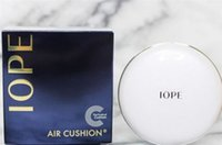 Wholesale Skin Whitening Cream Korea - Korea Brand Top quality IOPE Air Cushion + Replace cushion xp BB Foundation Cream 15g Whitening Moisturizing Concealer N21 W21 N23 W