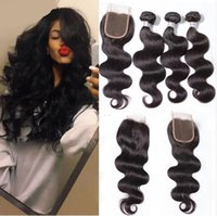 Wholesale Brazilian Virgin Hair Body wave Lace Closure with Boundls Unprocessed Human Hair Weave Extension Remy Hair