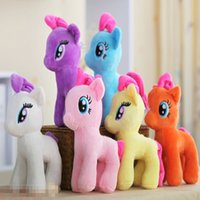 "Wholesale Cute Stuffed Horse Toys - New Cute 8"" My Little Pony Horse Figures Stuffed Plush Soft Teddy Doll Toy Gifts For Girl and Boys Free Shipping"