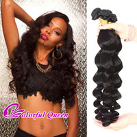 Brazilian Virgin Human Hair Weave 4 Bundles 400g / Lot Body Wave Straight Loose Wave Índia peruana do Malásia Remy Virgin Human Hair Bundles
