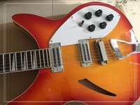 Wholesale Semi Guitar Pickups - Factory Customized 12-String Electric Guitar with Red Body and 2 Open Pickups and can be Changed