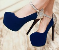 Wholesale Dress Princess Halloween Women - New Arrival Hot Sale Specials Good Quality Sexy Noble Princess Sweet Sequins Suede Red Platfrom Chinese Style Bride Heel Shoes EU33-42
