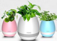 Wholesale Hifi Docking - 2017 New TOKQI Bluetoth Smart Touch Music Flowerpots Plant Piano Music Playing Wireless Flowerpot Flower pots no plants