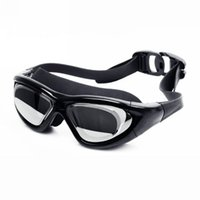 Wholesale Swimming Mirror - Anti-Fog HD Swimming Goggles Mirrored Clear Lenses Wrap-Around Frame Adult Oversized Swim Glasses Eyewear for Watersports