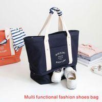 Wholesale Eco Shoes - Multi Functional Fashion Shoes Bag Fashionable Handbag Travel Bag Canvas fabric is more durable Travel necessities.