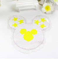 Wholesale Quilt Coat - 2017 NEW Mickey Reversible color change Sequins Sew On Patches for clothes DIY Patch Applique Bag Clothing Coat Sweater Crafts