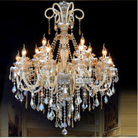 europe 20 25sqm kitchen led crystal light fixtures for the living room wrought iron candle chandeliers lighting crystal led lamp bedroom bar dining room