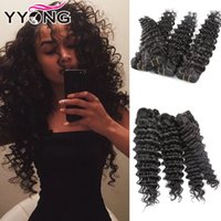 Wholesale Cheap Unprocessed Deep Wave Hair - YYONG Cheap Best Selling Unprocessed 8A Soft Brazilian Virgin Hair 4 Bundles Deep Wave Human Hair Bundles Thick Natural Color Free Shipping