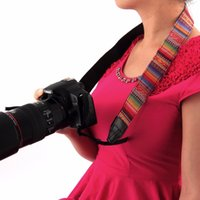 Camera Shoulder Neck Sling Hand Strap Belt Retro Style Double Cotton Yard Padrão colorido para Nikon Sony Canon