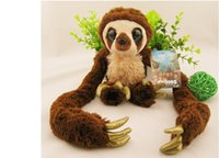 Wholesale Croods Monkey Belt - Wholesale- High quality 65cm 100cm Belt sloths Long arm monkey plush doll the Croods Factory direct sale toys kids christmas birthday gift