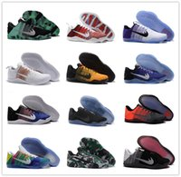 Wholesale Woven Shoes For Men - 2017 Cheap Sale kobe 11 Elite Men's Basketball Shoes for Top quality Black White XI KB Weaving Sports Training Sneakers Size 7-12