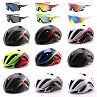 Wholesale glasses broken - Selling 2017 road mountain bike pneumatic broken wind helmets riding helmets riding equipment to send riding glasses free shipping