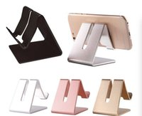 Wholesale tablet pc stands for sale - Universal Colors Aluminum Metal Cell Phone Tablets PC Desk Stand Holder Support Bracket With Package
