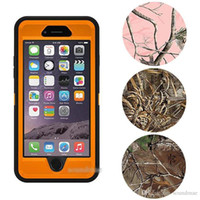 Wholesale Iphone Waterproof Case Clip - For Phone 7 Camo Defender Robot Case With Belt Clip Waterproof cover For iphone 6 6s plus S8 S7 S6 edge plus retail package