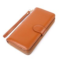 Wholesale large wallet clutch organizer - 2017 women designer purse designer wallet vintage purse large capacity PU quality clutch bag for card free shipping
