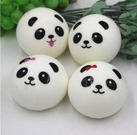 Wholesale Universal Sim Free - 500pcs lot Free Shipping 4cm Jumbo Panda Squishy Charms Kawaii Buns Bread Cell Phone Key Bag Strap Pendant Squishes lanyard tri sim phones