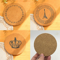 Wholesale Table Mats For Tea Cups - 10cm*0.5cm Round Shape Plain Cork Coasters Heat Resistant Tea Drink Wine Coffee Cup Mat Pad Table Decor - ideas for wedding party gift