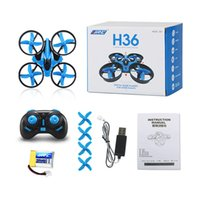 Wholesale Kids Mini Helicopters - NEW JJRC H36 Mini Drone 2.4Ghz 4CH 6-Axis GYRO RC Quadcopter Headless LED Mode One Key Return Helicopter WX-T100